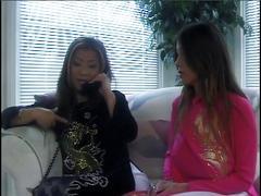 Japanese lesbians using a dildo