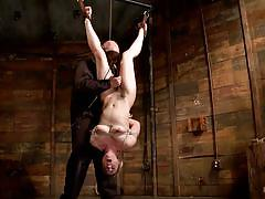 blonde, bdsm, babe, hogtied, upside down, ropes, stick with dildo, hogtied, kink, dahlia sky, sgt. major