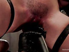 bdsm, torture, latina, vibrator, hairy pussy, pussy fingering, box on head, nipple clamp, device bondage, kink, liv aguilera