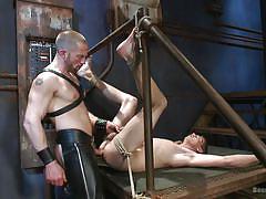 rimjob, slave, domination, gays, anal sex, leather pants, gay blowjob, rope bondage, bound gods, kink men, adam herst, sam truitt
