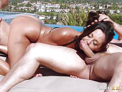 Ava and two horny cocks