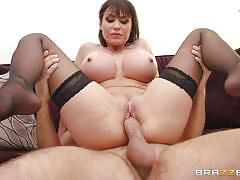 feet, big tits, pantyhose, blowjob, ball sucking, reverse cowgirl, brunette milf, milfs like it big, brazzers network, keiran lee, eva karera