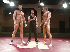 wrestling, public, naked, gay wrestling, naked kombat, kink men, dirk caber, jessie colter