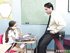 Schoolgirl amai sucks the professor