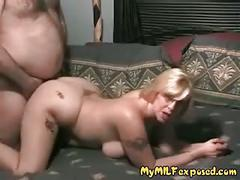 My milf exposed - blonde amateur milf doggy style sex