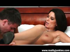 Hot cheating brunette creampied