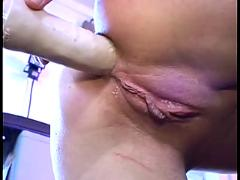 German milf with fucking machine