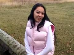 Horny canadian girl fucked outdoor