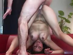 Hot & sexy french milf first porn