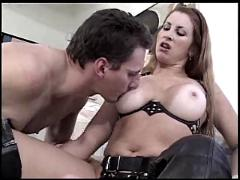 Leather mistress hard strapon