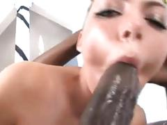 Hot tattooed babe sloppy deepthroat juelz vs big black cock