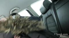 She is in the taxi sucking on the dick well