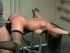 Bound and roughly throat & pussy fucked