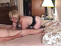 Woman filmed by hubby sucking another guys cock