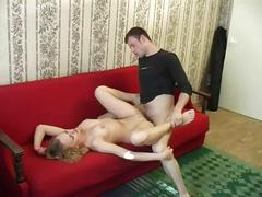 Blonde babe gets her pussy dick filled up