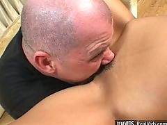 Asian booty shaker gets ass waxed