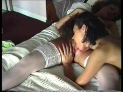 British lesbians jenna and zoe play on the bed