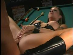 Sexy chloe dior fucked on the pool table
