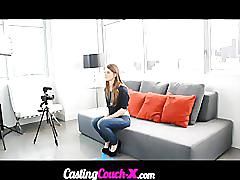 Castingcouchx 18yo coed shoots first porn video