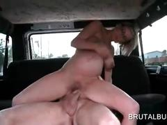 Pregnant fuck in car