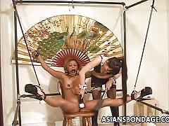 blonde, bondage, asian, mistress, domination, vibrator, babes, tied up, asians bondage
