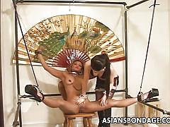 Slut is spread out by the mistress