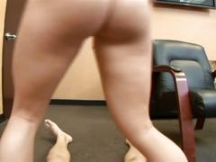 Brunette beauty drilled hard on casting video