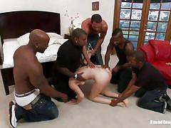 Black gangbang for a white chick