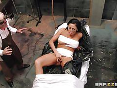 milf, handjob, big tits, doctor, blowjob, pussy licking, mastrubation, black hair, at work, doctor adventures, brazzers network, audrey bitoni, mick blue