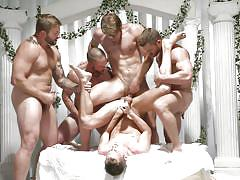 Chaotic orgy at the wedding