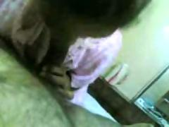 Indian telugu colg teen gives blowjob to prof in hotel room