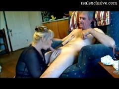 Blonde milf erica sucking cock of her lover