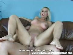 Busty czech milf first anal on cam
