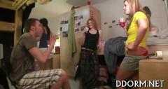 College babes love to let loose and fuck