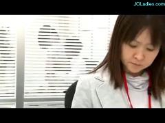 Office lady fucked on the desk getting facial in the office