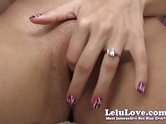 Lelu lovesuper duper closeup masturbation