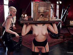 whip, lesbian domination, training, busty milfs, sexy lingerie, device bondage, ass grabbing, bondage box, rope bondage, the upper floor, kink, bill bailey, lorelei lee, adley rose