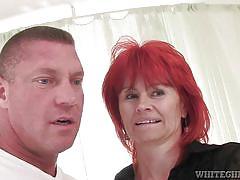 Hungry redhead grandma @ i wanna cum inside your grandma #11