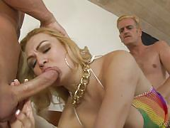 Caught getting ass fucked by a chick with dick