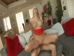 Hot blonde big tits milf pussy anal action