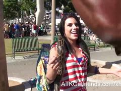 Take adriana chechik to santa monica, then home to fuck her
