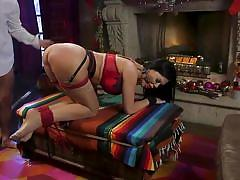milf, bdsm, big ass, big tits, whipping, punishment, domination, brunette, butt plug, collar, red lingerie, ball gag, sex and submission, kink, seth gamble, jasmine jae