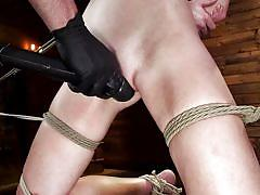 Tied up and brought to orgasm
