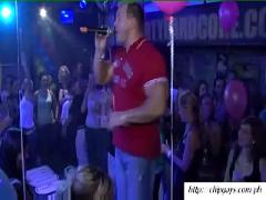 Sweet chicks dancing with strippers men