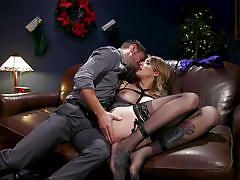 tranny, bdsm, big cock, bondage, big tits, deepthroat, sex swing, nipple clamps, transsexual, vibrator, christmas, ts seduction, kink, casey kisses, dante colle