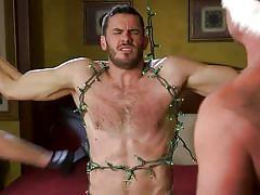 bdsm, sex slave, whipping, threesome, muscular, face fuck, tattooed, christmas, bound gods, kink men, vander pulaski, jack dyer, dirk caber