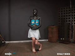 Eden sin should suck his cock through the leather mask