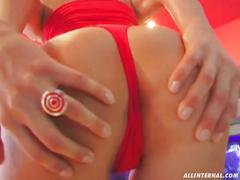 All internal natural perfect tit honey gets cum right in the ass