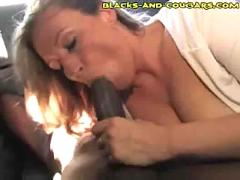 Chocolate cock craving cougar