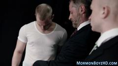 Mormon elders straddle